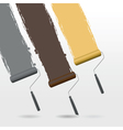 paint roller background vector image vector image