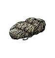 hand spun twisted yarn of grey wool farm product vector image