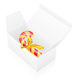 new year packing box with candy vector image vector image