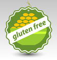 green gluten free bowl wheat stamp tag label vector image