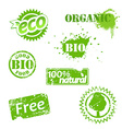 Set of used bio labels vector image vector image