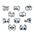 Big blue eyes in cartoon or comic style vector image