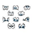 Big blue eyes in cartoon or comic style vector image