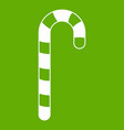 candy cane icon green vector image