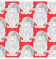 Fancy Santa red seamless vector image