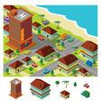 isometric hotel near beach vector image