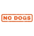 No Dogs Rubber Stamp vector image