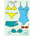 Swimsuits for woman vector image