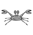 crab sign icon vector image vector image