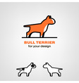 Bull terrier icon vector image