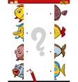cartoon educational halves task vector image