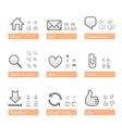 universal software icon set web part vector image vector image