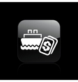 navy cost icon vector image vector image