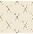 Scissors pattern tile background seamless vintage vector image