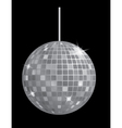 disco mirror ball vector image