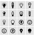 black bulbs icon set vector image