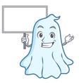 bring board cute ghost character cartoon vector image