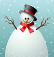 Cartoon snowman text frame vector image