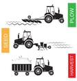 Crop growing and harvesting of agriculture vector image