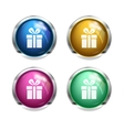 gift button icons vector image
