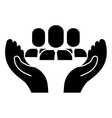 hands and business people vector image