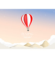 Hot air balloon travel background vector image