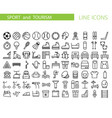 sport and recreation flat icon set collection of vector image