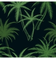 Tropical palm trees leaf pattern vector image