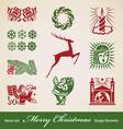 Christmas decoration set vector image vector image
