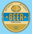 Beer label vector image vector image