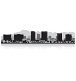 El Paso USA city skyline silhouette vector image
