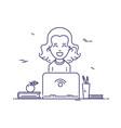 woman at work vector image