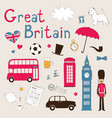 Great Britain set vector image
