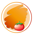 A round orange template vector image