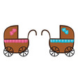 Isolated Stroller vector image vector image