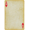 playing card Ace vector image