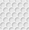 White paper seamless circle background vector image vector image