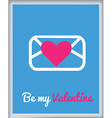 stValentine icons card 6 vector image