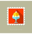 Ice Cream flat stamp with long shadow vector image