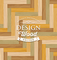 Abstract multicolored tile wood floor vector image