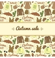 Autumn sale background with season women clothes vector image