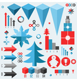 Christmas Set of infographics elements vector image