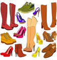 collection of different shoes vector image
