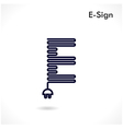 Creative E letter icon abstract logo design vector image