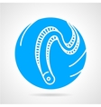 Eel abstract round icon vector image