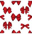 hand drawn bows seamless pattern vector image
