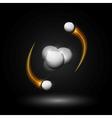 Helium atom vector image