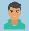 man portrait modern avatar flat design vector image