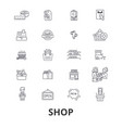 shop shopping bag shopping mall store shopping vector image