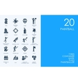 Set of BLUE HAMSTER Library paintball icons vector image